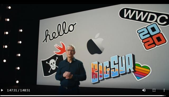 """许锋:苹果线上WWDC会议,""""质量高得吓人"""""""